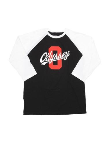 Tee Shirt Odyssey Scholar 3/4 black/White taille M