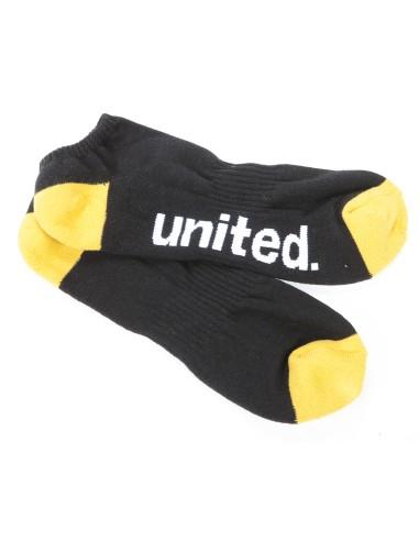 Soquettes UNITED noir et jaune taille unique