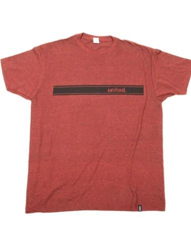 Tee Shirt UNITED Stripe heather brown S