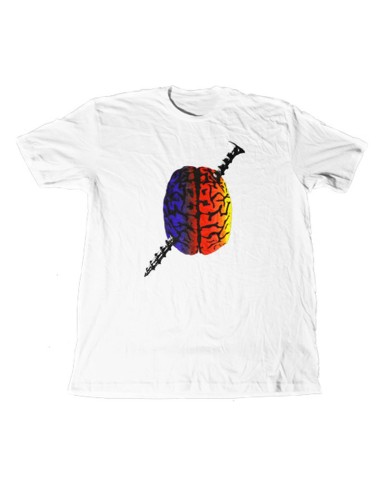 Tee Shirt CULT Screwbrain blanc taille S