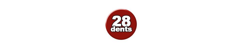 28 dents